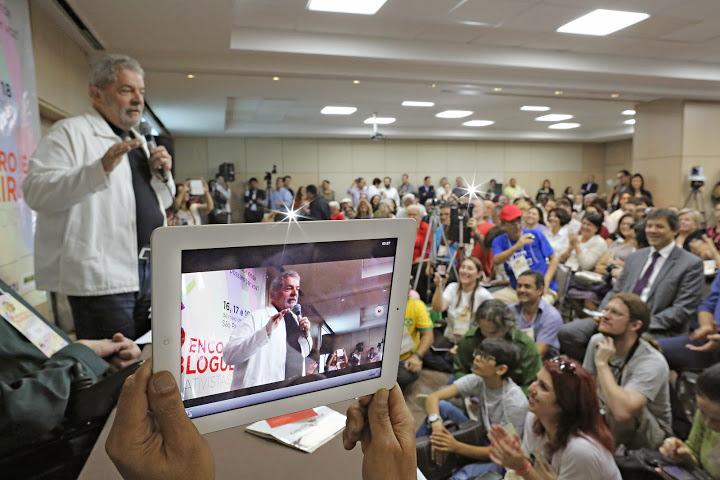 Lula no 4 encontro de blogueiros