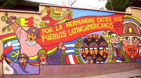 Am rica latina e seus dilemas zona curva for Murales de fotos para pared