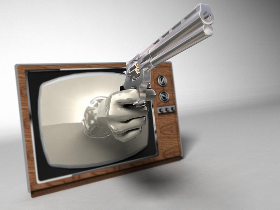 violência na tela
