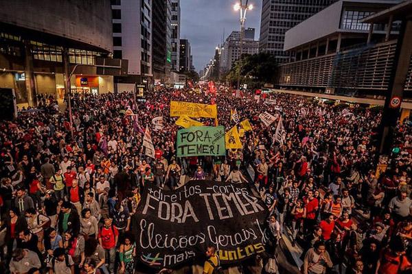esquerda unida protesto